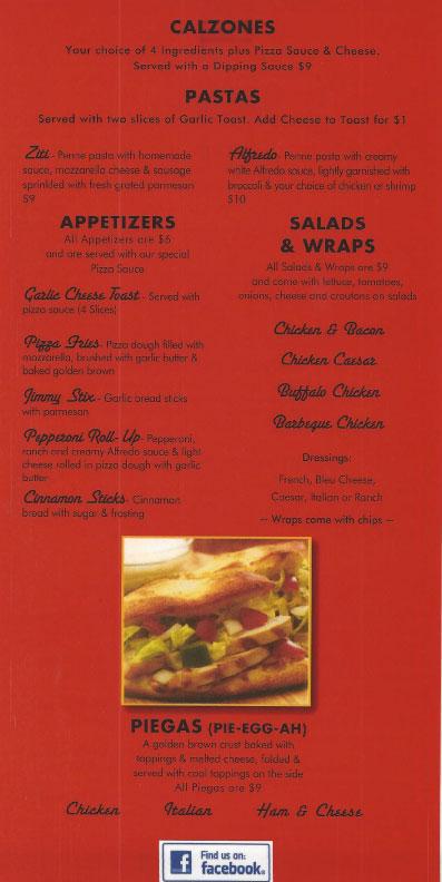 menu at southway bowl